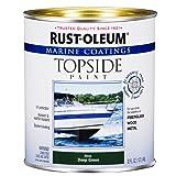 Rust-Oleum 207007 Marine Topside Paint, Deep Green, 1-Quart - 4 Pack (Color: Deep Green, Tamaño: 4-Quarts)