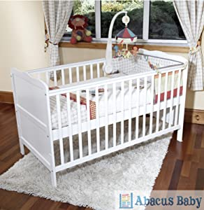 POPPY&'S PLAYGROUND NEW BABY WHITE COT BED NURSERY FURNITURE   ISABELLA COTBED/JUNIOR BED   WHITE       Babyreview and more information