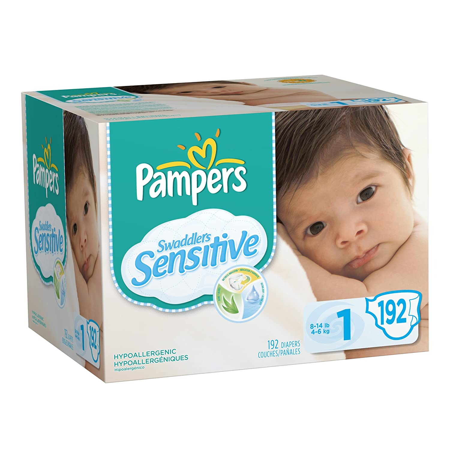 Pampers Swaddlers Sensitive Diapers Economy Pack Plus Size 1 192 Count Packaging May Vary at Sears.com