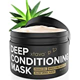Xtava Deep Conditioning Hair Mask Treatment - 8 Fl.Oz Hydrating Cream with Pequi Oil & Aloe Vera Juice for Dry and Damaged Hair - Anti Frizz Conditioner Moisturizer Masks for Straight and Curly Hair (Tamaño: Full Size)