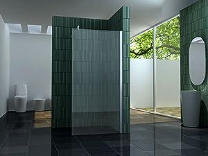 10 mm Duschtrennwand FREE 100 x 200 cm  BaumarktÜberprüfung und weitere Informationen