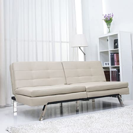 Metro Shop Memphis Sand Double Cushion Futon Sofa Bed-*