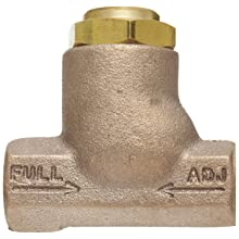 "Parker 032500319 3250 Series Brass Inline Flow Control Valve, 3/8"" NPTF, 250 psi, Standard Adjustment"