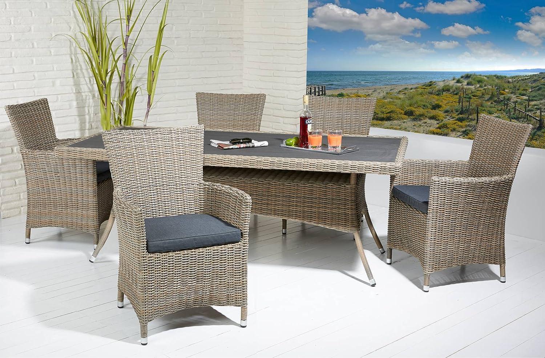 esstisch natur farben 200 x 100 cm in polywood optik gartentisch poly rattan jetzt bestellen. Black Bedroom Furniture Sets. Home Design Ideas
