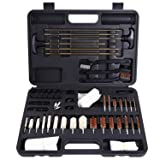 Ohuhu Gun Cleaning Kit 58 Pieces Tips and Jags for Hand Gun, Rifle & Shot Gun with Carrying Case [Upgraded] (Color: 58 Pieces)