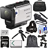 Sony Action Cam FDR-X3000 Wi-Fi GPS 4K HD Video Camera Camcorder with Action Mounts + 32GB Card + Battery + Shooting Grip + Tripod + Case + Kit