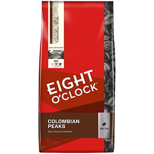 Eight O'Clock Colombian Peaks Whole Bean Coffee