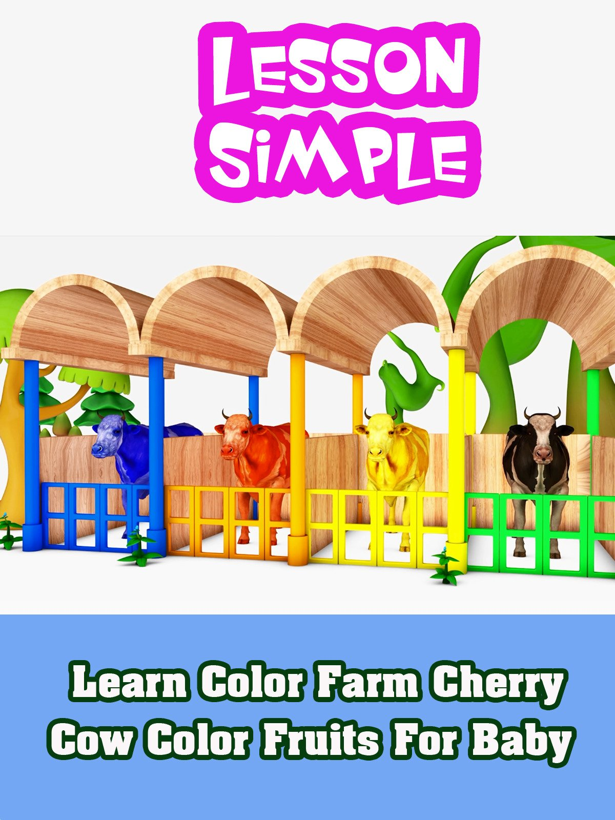 Learn Color Farm Cherry Cow Color Fruits For Baby