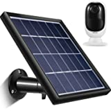 Solar Panel Compatible with Reolink Go, Reolink Argus 2, Reolink Argus Pro (Camera not Included), Weather Resistant, 5 m/ 16.4 ft Power Cable and 360 Degree Mount Bracket, 5 V/ 3.5 W (Max) (Black) (Color: Black)