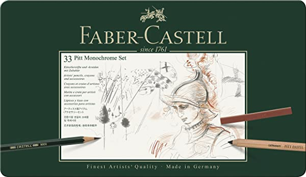 Faber-Castell Pitt Monochrome Set 33 (Color: Multi)
