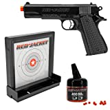 Red Jacket M1911 6mm Airsoft Spring Pistol Target Pack (Color: Black)
