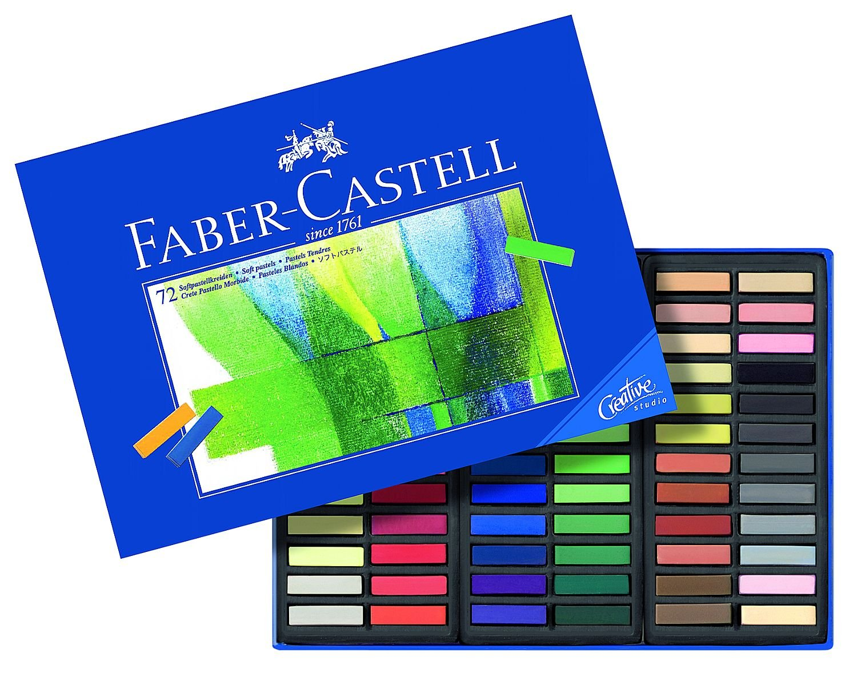 Barras de pinturas pastel Faber-Castell de distintos colores