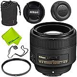 Nikon AF-S NIKKOR 85mm f/1.8G Lens Base Bundle (Color: 85MM 1.8, Tamaño: Base)