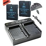 BM Premium 2 ENEL14, EN-EL14A Batteries and Dual Battery Charger for Nikon D3100, D3200, D3300, D3400, D3500, D5100, D5200, D5300, D5500, D560, DF Coolpix P7000, P7100, P7700, P7800 Digital Camera (Tamaño: 2 Batteries + Double Charger)