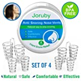 2018 UPGRADED Snore Stopper - Best Anti Snoring Aids Snoring Solution - Set of 4 Nasal Dilators - Snore Reducing Nose Vents for Natural and Comfortable Sleep