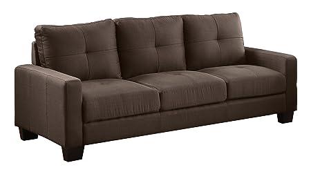 Homelegance 8518-3 Upholstered Sofa, Brownish Grey Linen-Like Fabric