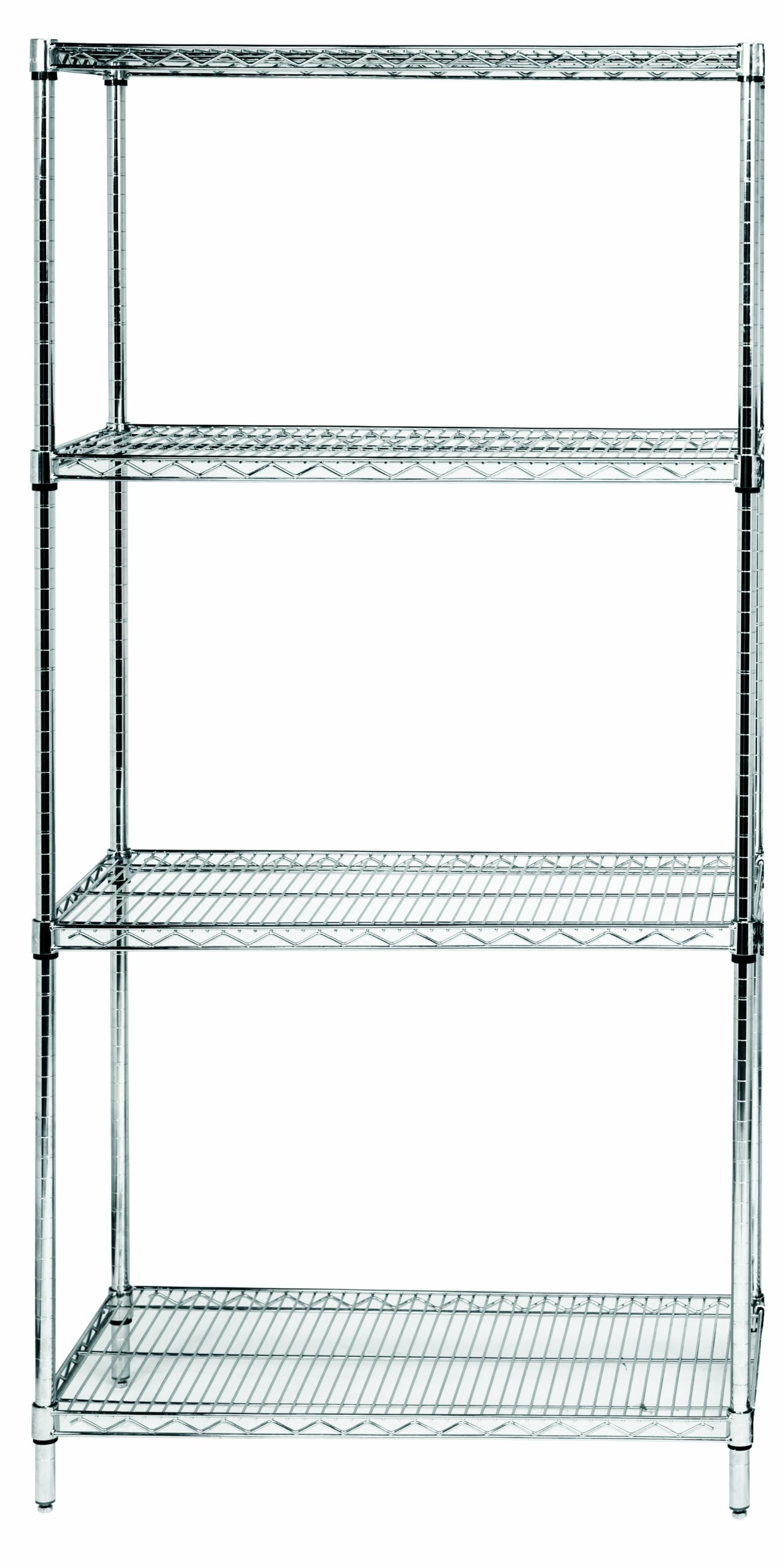 quantum storage systems rwr72 1830ld 4 tier wire shelving. Black Bedroom Furniture Sets. Home Design Ideas
