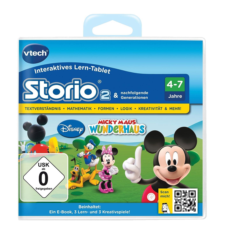 VTech 80-230404 – Lernspiel Micky Maus Wunderhaus  (Storio 2, Storio 3S) als Weihnachtsgeschenk