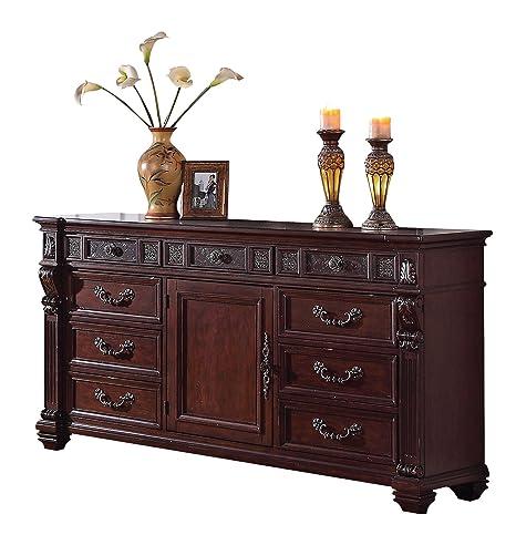 ACME 20505 Vevila Dresser, Cherry Brown Finish