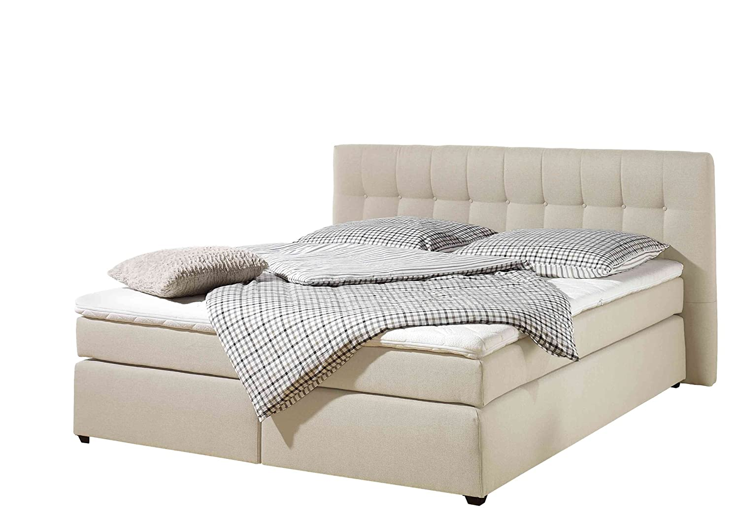 Maintal Betten 236107-3113 Boxspringbett Jeremy 180 x 200 cm inklusive Topper, creme