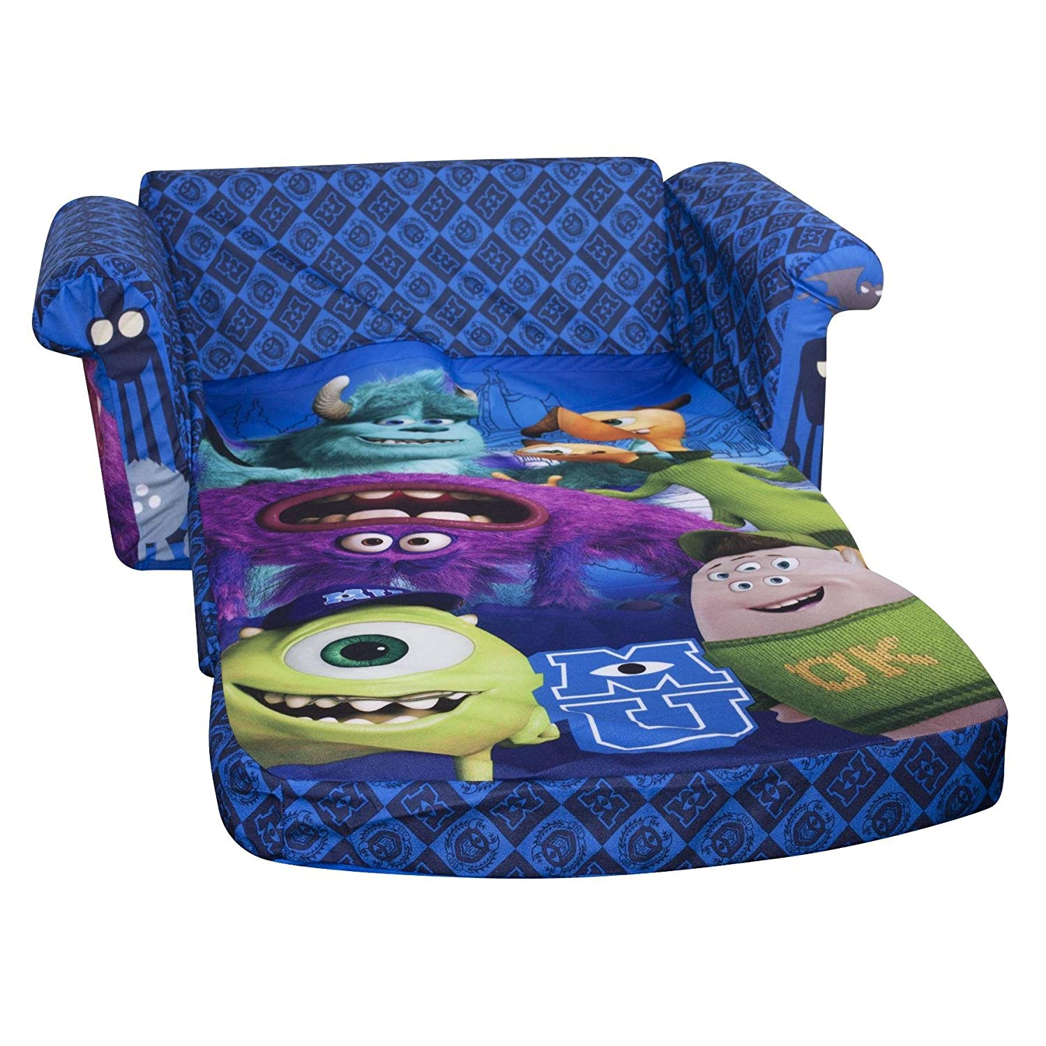 Marshmallow Furniture Monsters University Flip Open Sofa Groovy Kids Gear