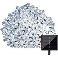 LightsEtc 72ft White Solar 200 LED String Lights