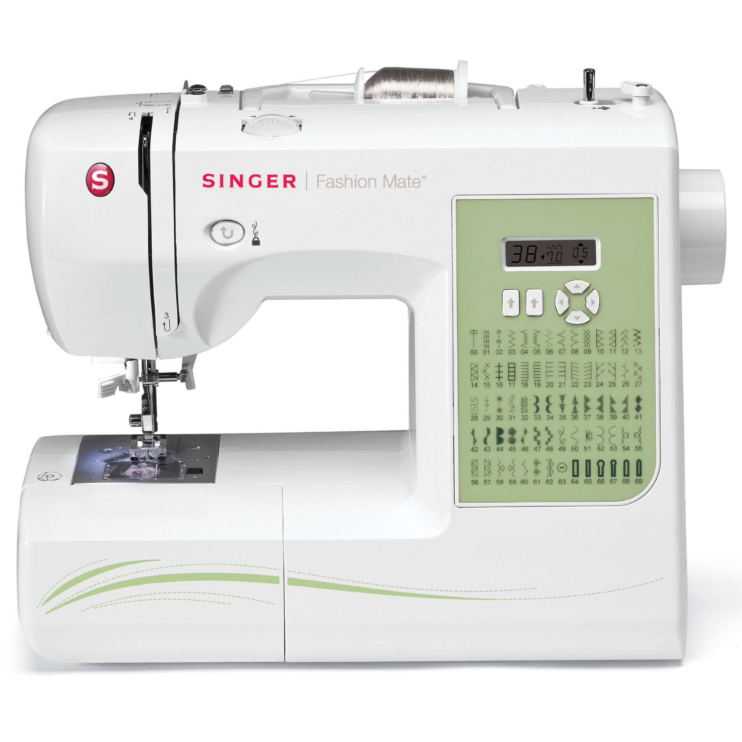 SINGER 7256 Fashion Mate 70-Stitch Computerized Free-Arm ...