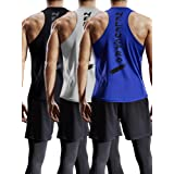 Neleus Men's 3 Pack Mesh Workout Muscle Tank Top,5007,Black,Grey,Blue,XS,EU S