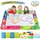 massway Aqua Doodle Mat, Magic Doodle Mat Large Water Drawing Mat for Kids Educational Toys Toddler Mess Free Doodle Aqua Magic Mat for Age 2 3 4 5 6 7 8 Year Old (Color: Multicolored, Tamaño: XX-Large)