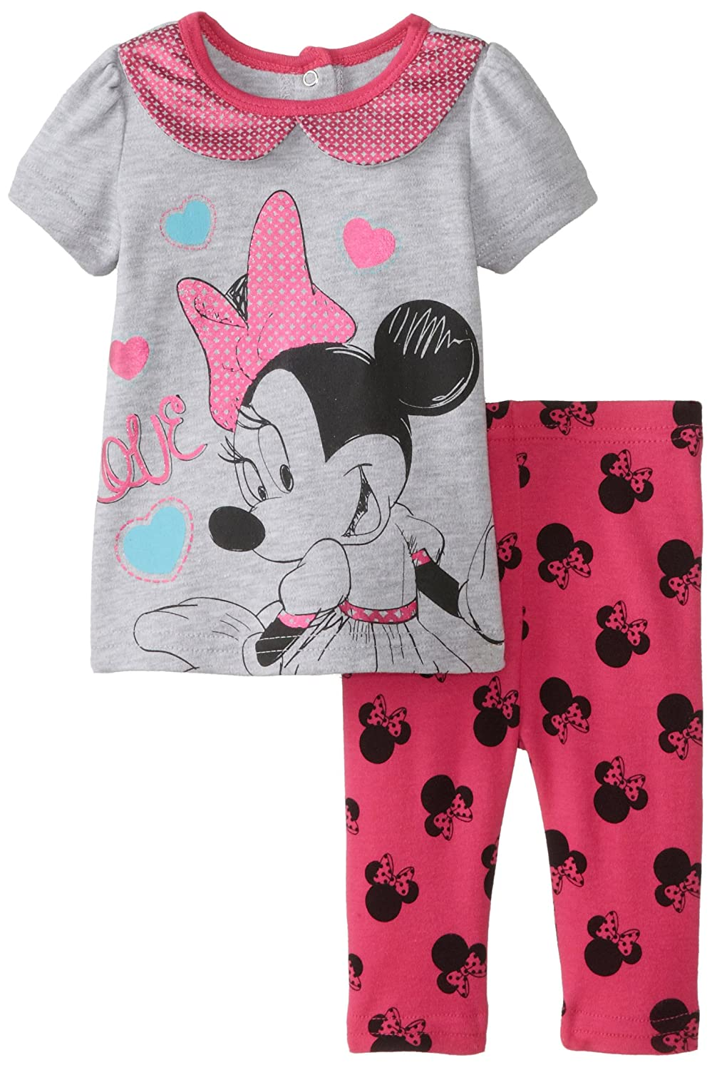 где купить  Disney Baby Baby-Girls Newborn 2 Piece Legging Set  по лучшей цене