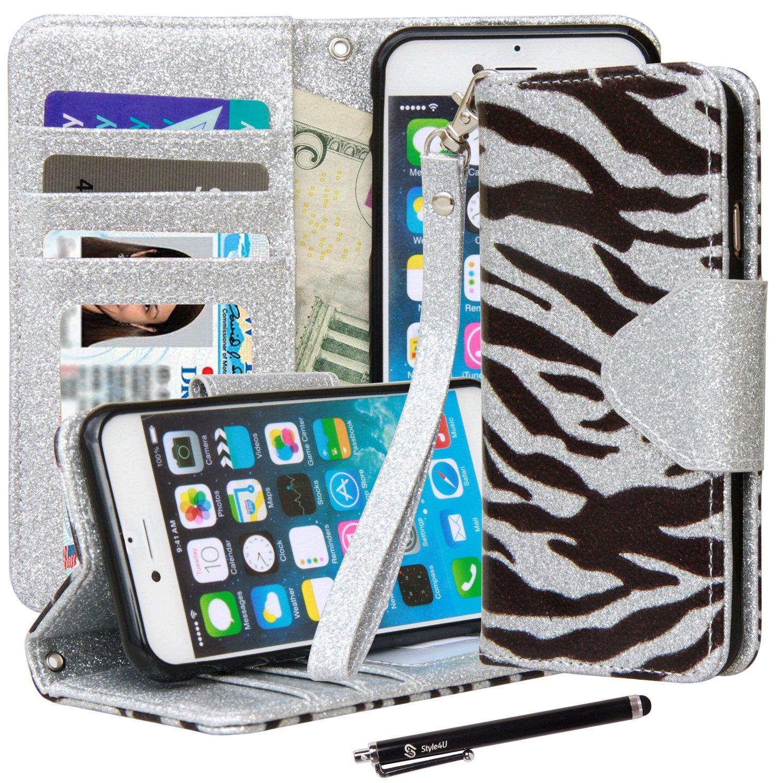 Style4U-iPhone-6-Plus-Flip-Case-w-Screen-Protector-Stylus-amp-Credit-Card-Slots