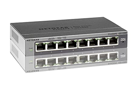 Netgear GS108E-300PES Switch Web Managed (Plus) Configurable 8 Ports