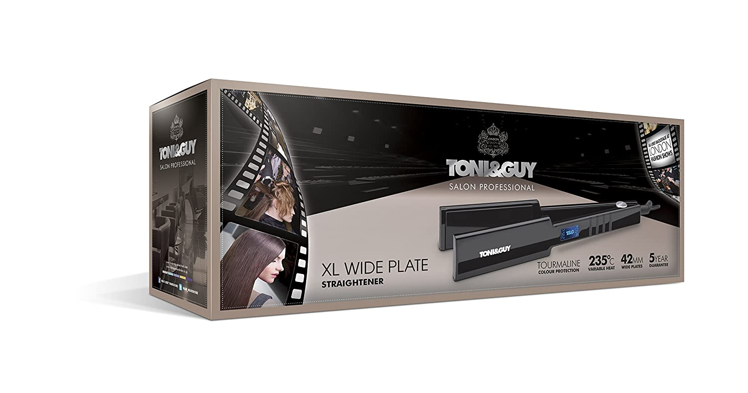Toni & Guy TGST2998 X-Large Wide Plate Salon Professional Straightener Review package