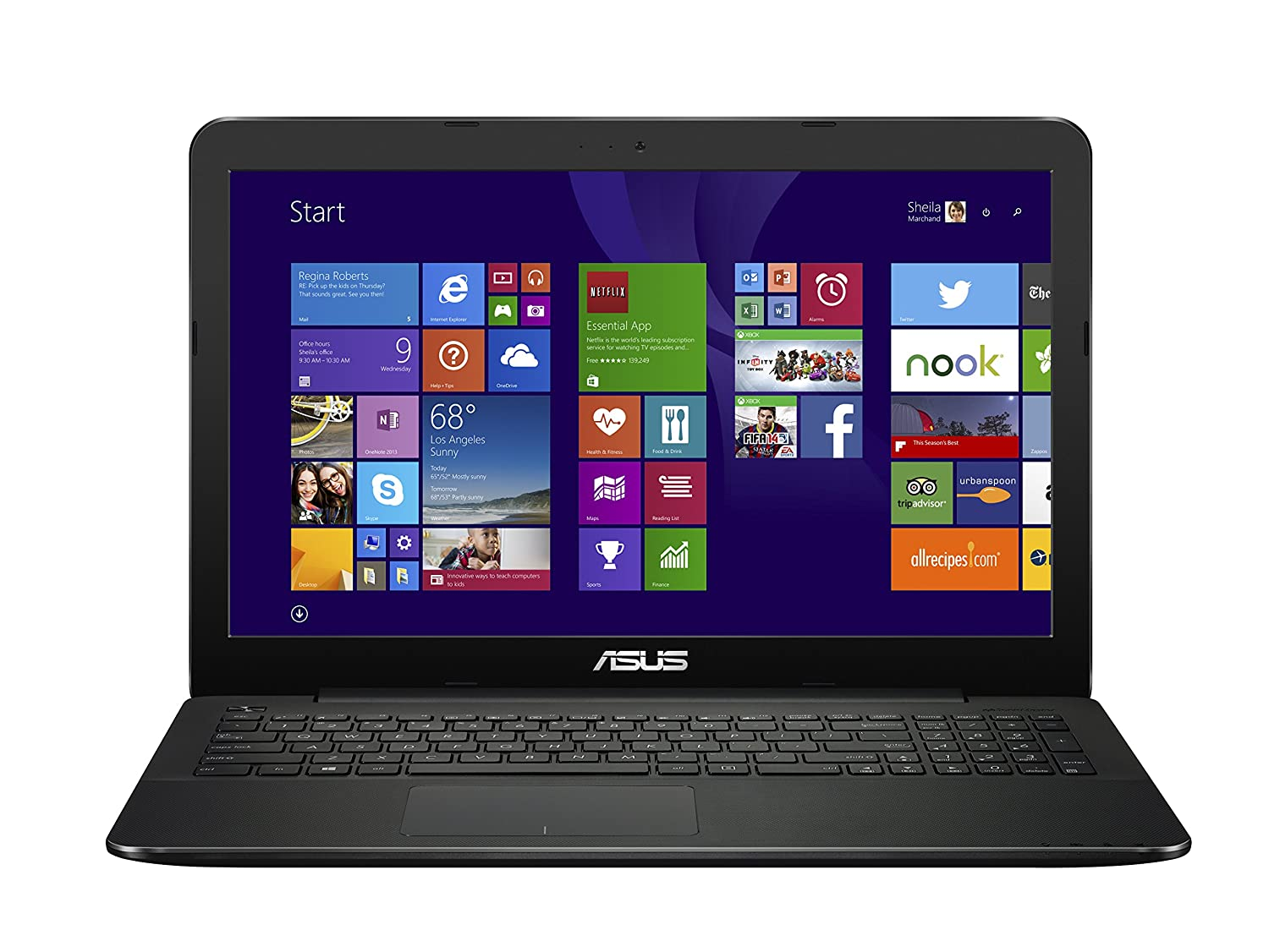 ASUS F554LA 15.6 Inch Laptop (Intel Core i5, 8 GB, 500GB HDD, Black) - Free Upgrade to Windows 10