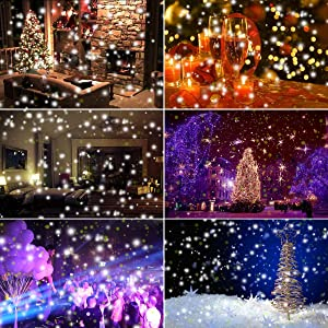LEDshope Snowfall Projector LED Lights Wireless Remote, IP65 Waterproof Rotatable White Snow For Valentines Day Christmas Halloween Holiday Party Wedding Garden New Year House Landscape Decorations (Color: IP65 Waterproof Rotatable White Snow For Valentines Day Christmas Halloween Holiday Party Wedding G)