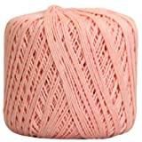 Threadart 100% Pure Cotton Crochet Thread - SIZE 3 - Color 4 - LT PINK -2 sizes 27 colors available (Color: LT PINK, Tamaño: SIZE 3 SINGLE)