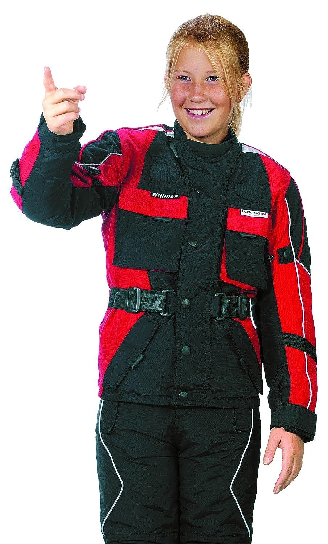 Roleff Racewear 432KXL Motorradjacke für Kinder, Größe: XL/158, Schwarz/Rot kaufen