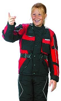 Roleff Racewear 432KS Blouson Moto pour Enfants, Noir/Rouge, S/128