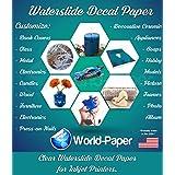 Water Slide Decals for Models Inkjet Clear 8.5