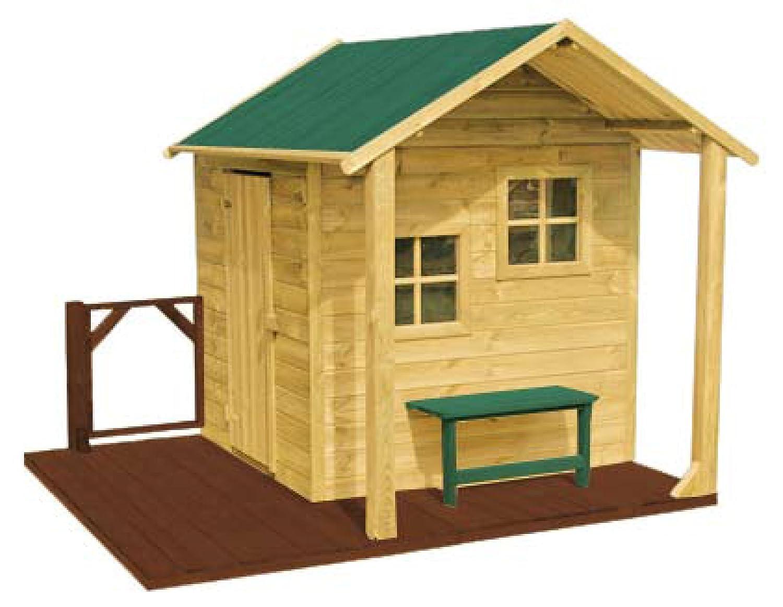 Kinderspielhaus CHRISTINA Kinderhaus Gartenhaus Gartenhäuser Spielhaus Stelzenhaus für Kinder bestellen