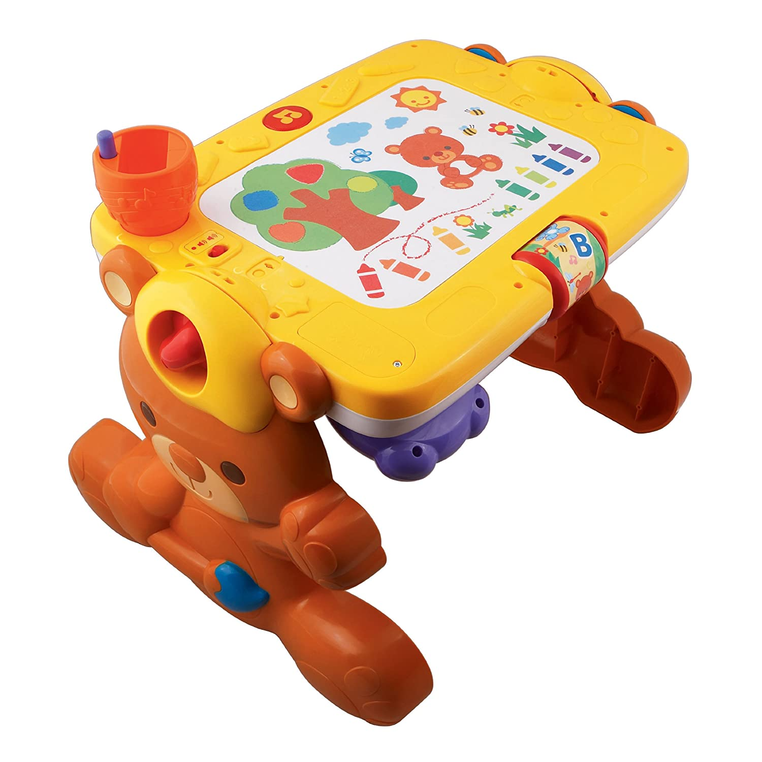 Vtech 2 in 1 alphabet art piano musical discovery learning for Bureau 3 en 1 vtech
