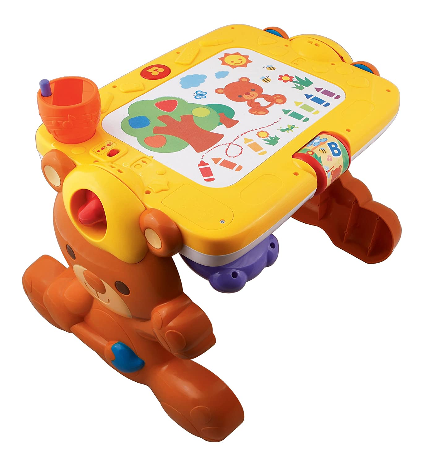 Vtech 2 in 1 discovery table play and draw so much to for Bureau 3 en 1 vtech