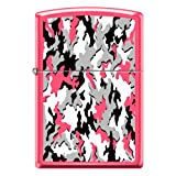 Zippo Custom Design Lighter Hot Neon Pink Camouflage Windproof Collectible Lighter. Made in USA Limited Edition & Rare (Color: Pink)