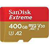 SanDisk 400GB Extreme microSD UHS-I Card with Adapter - U3 A2 - SDSQXA1-400G-GN6MA (Renewed) (Tamaño: 400GB)