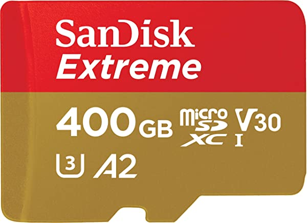 SanDisk 400GB Extreme microSD UHS-I Card with Adapter - U3 A2 - SDSQXA1-400G-GN6MA (Renewed) (Tamaño: 400GB)