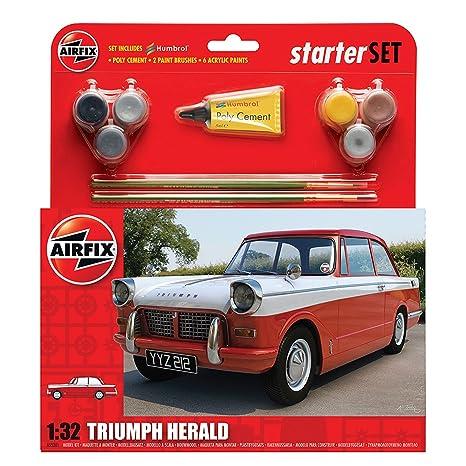 Triumph Herald - Kit pour débutant avec peintures acrylique, pinceau et colle