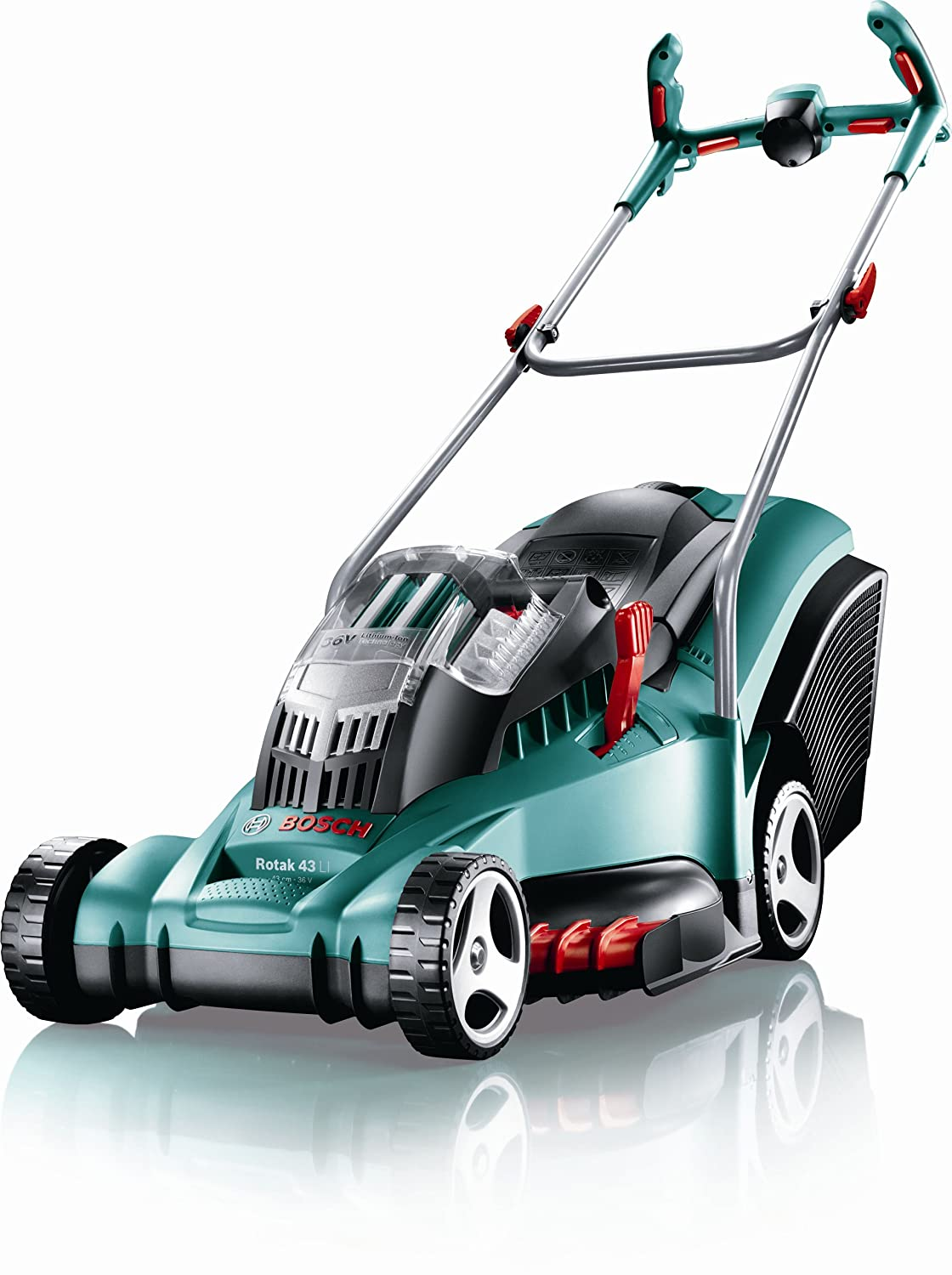 uk diy tools reviews best deals on bosch rotak 43 li ergoflex cordless rotary lawnmower in uk. Black Bedroom Furniture Sets. Home Design Ideas