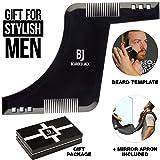 Beard Shaping Tool - Beard Lineup Tool - Fathers Day Gifts - Beard Comb for Men - Beard Bib and Apron - Beard Line Shaping Tool - Beard Template Tool - Beard Shaping Tool Kit - Beard Gifts for Men