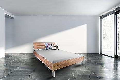 "Cuna ""Madrid"" 100 x 200 - cama doble - marco cuna - somier - madera maciza/MDF - roble - gusanos Germany - Adormio"