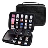 Ropch USB Flash Drive Case / Hard Drive Carrying Case Bag Waterproof Electronic Accessories Organizer Holder Pouch - (Medium, Black) (Color: M, Black)